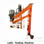 Ladle feeding machine