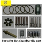 Piston ring for hot chamber die casting
